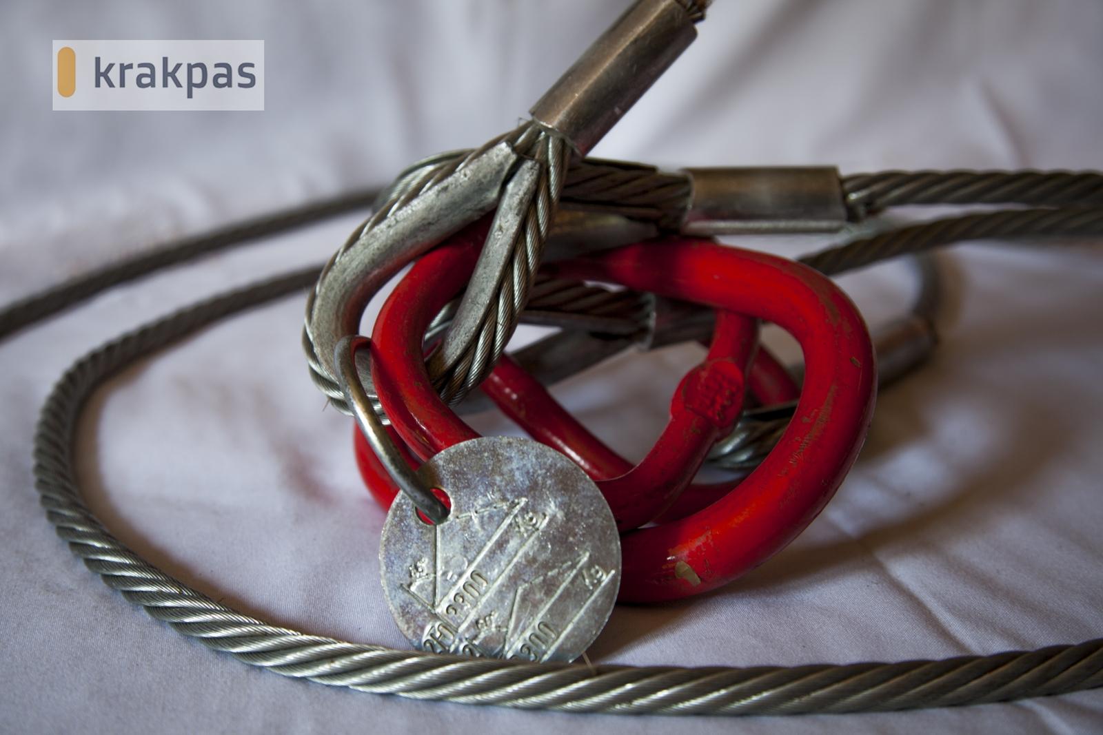 zawiesie linowe dwupetlowe